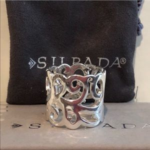Silpada 🆕Eden Ring Sterling Silver Swirl Cut-Outs